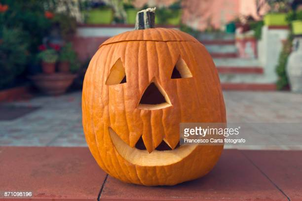 halloween lantern - halloween pumpkin stock photos and pictures