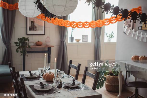 halloween lunch - halloween decoration stock pictures, royalty-free photos & images
