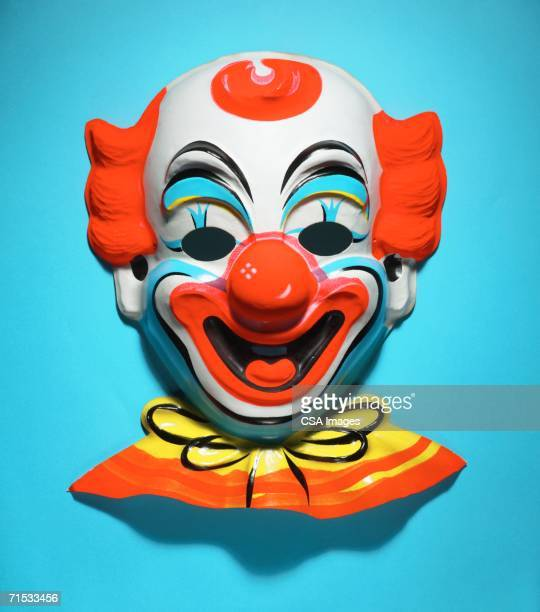 halloween mask of a clown - clown stock photos and pictures