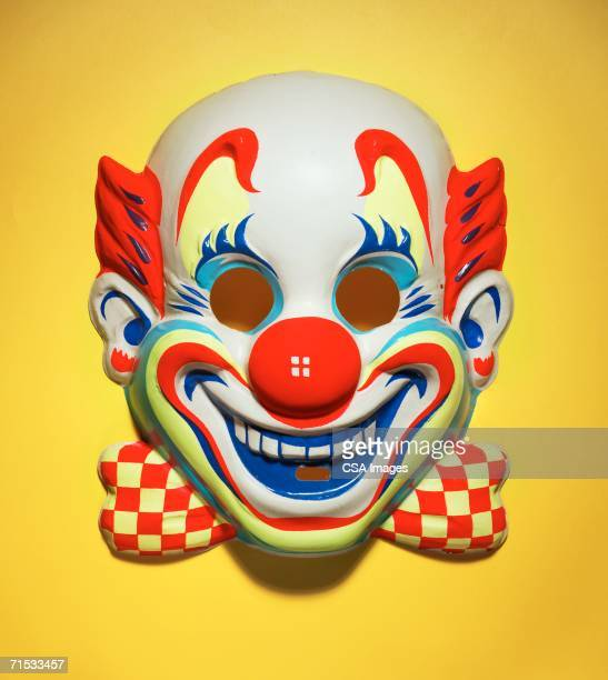 halloween mask of a clown - clown stock-fotos und bilder
