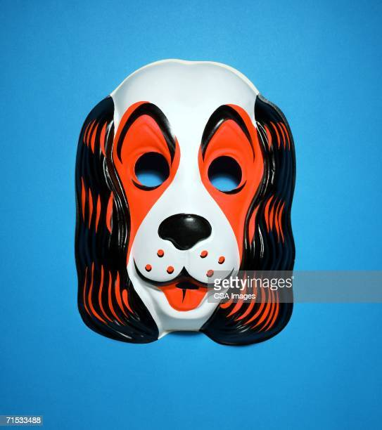 halloween mask of a dog - dog mask stock pictures, royalty-free photos & images