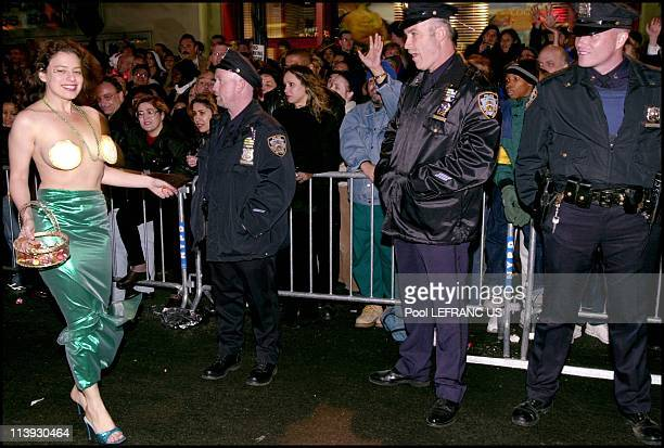 Halloween parade In New York city United States On October 31 2000The 27th annual Greenwich Village Halloween Parade titled Evolution Body Mind and...