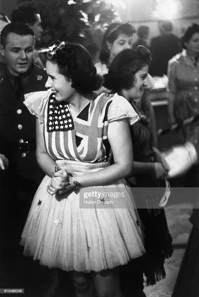 Young Woman in Flag Dress at Dance : News Photo