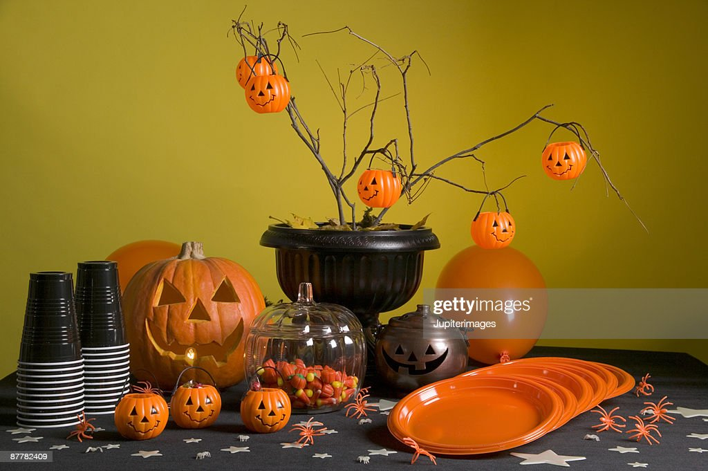 Halloween party table : Stock Photo