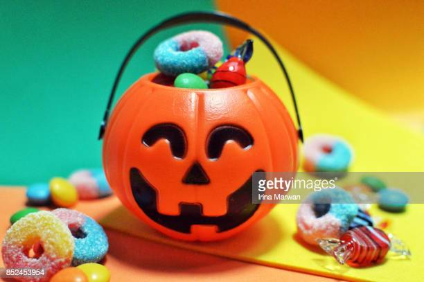 halloween - halloween candy stock photos and pictures
