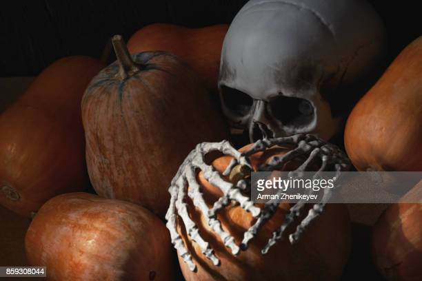 halloween - ugly pumpkins stock photos and pictures