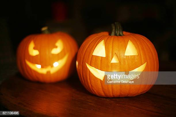 halloween pumpkins - happy halloween stock photos and pictures