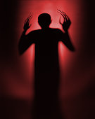 Halloween Red Vampire Silhouette or Background