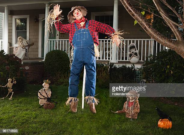 halloween / scarecrow - scarecrow agricultural equipment stock photos and pictures