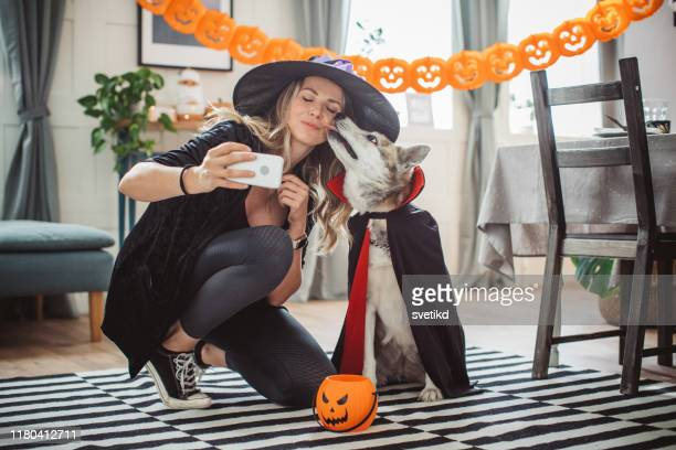 halloween selfie - costume stock pictures, royalty-free photos & images