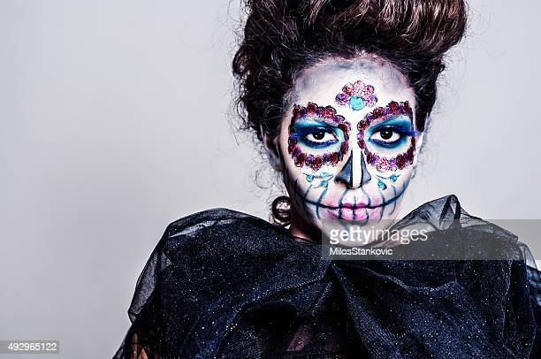 Halloween-Sugar skull kreativen make-up