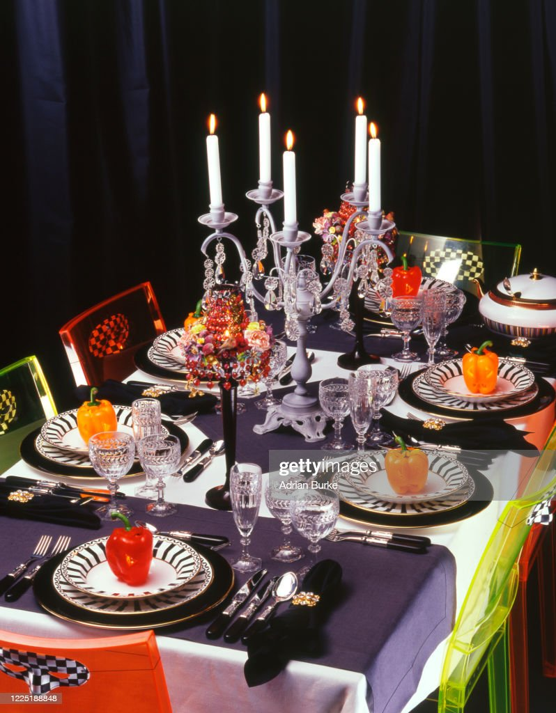 Halloween Table Setting High Res Stock Photo Getty Images