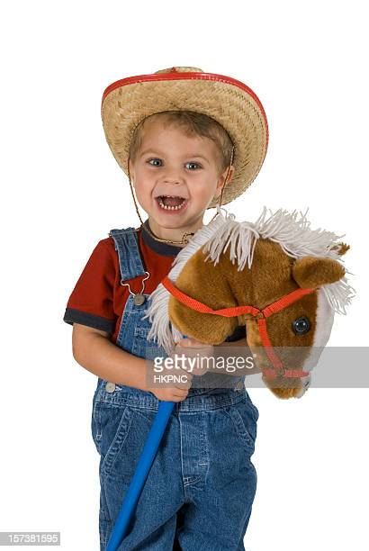 Halloween Toddler Cowboy Costume With Hat & Horse - Clipping Path