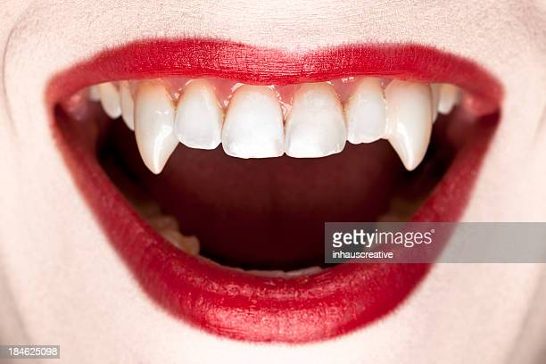 halloween vampire teeth - fang stock pictures, royalty-free photos & images