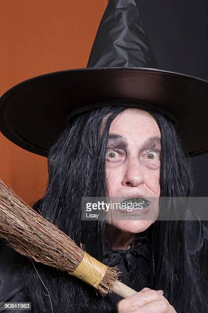 halloween witch - old ugly woman stock photos and pictures