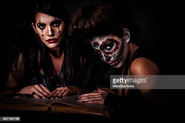 Halloween Witches with extreme make up