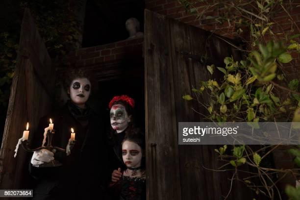 Halloween mit Kerzenhalter