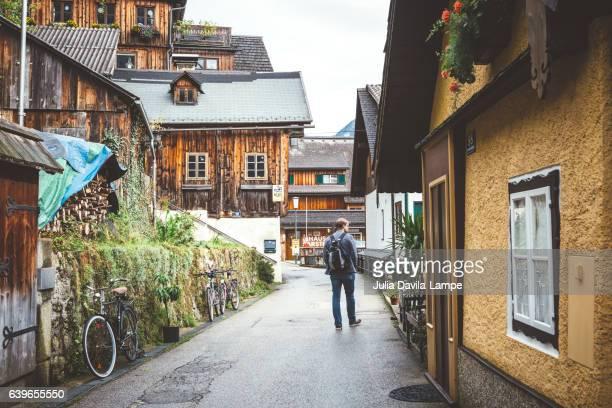 Hallstatt and Tourist.