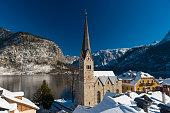 Hallstatt, Austria, in Winter