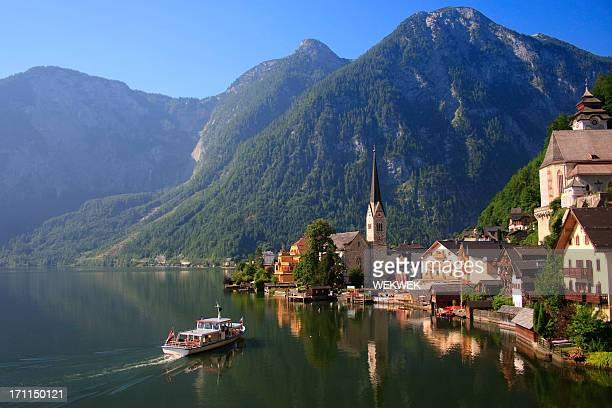 ハルシュタット、オーストリア、湖やウォーターフロント