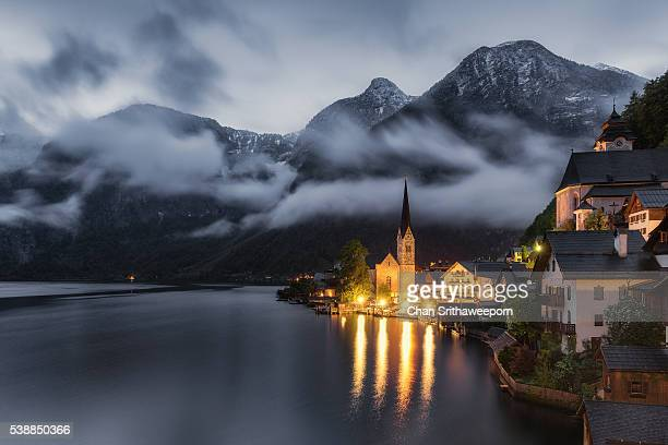 hallstatt , austria - hallstatter see stock pictures, royalty-free photos & images