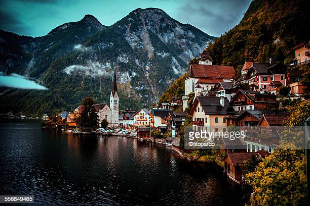 hallstatt, austria - austrian culture stock pictures, royalty-free photos & images