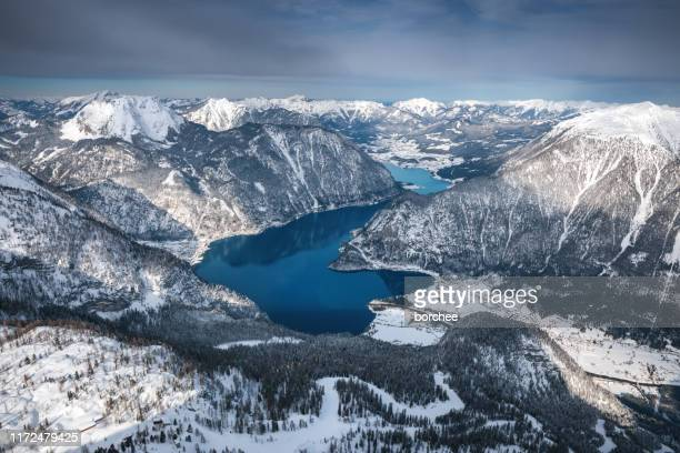 hallstatt lake - hallstatter see stock pictures, royalty-free photos & images