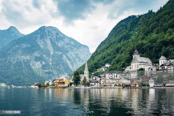 hallstatt - peter lourenco stock pictures, royalty-free photos & images