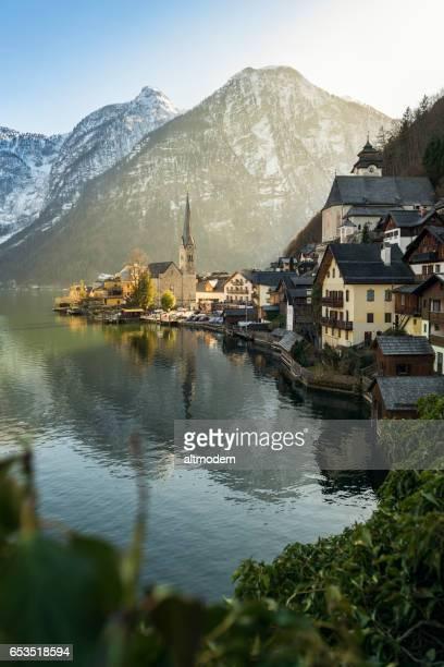 hallstatt salzkammergut austria - hallstatt stock pictures, royalty-free photos & images