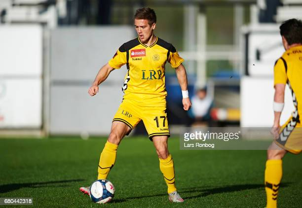 Hallur Hansson of AC Horsens in action during the Danish Alka Superliga match between AC Horsens and Randers FC at Casa Arena on May 8 2017 in...