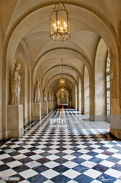 Hallway in Palace of Versailles.