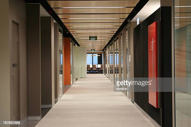 Hallway of a modern office building