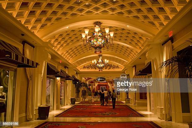 Hallway that connects the Encore Hotel with the Wynn Hotel and Casino is seen in this 2009 Las Vegas, Nevada, interior photo.
