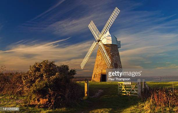halnaker windmill, west sussex - chichester stock pictures, royalty-free photos & images