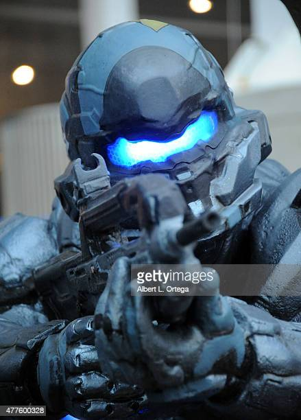 Halo display on day 2 of E3 2015 Electronic Entertainment Expo held at the Los Angeles Convention Center on June 17 2015 in Los Angeles California
