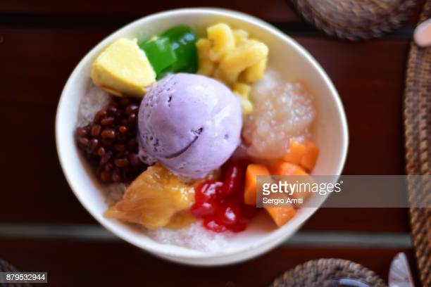 halo-halo - filipino culture stock photos and pictures
