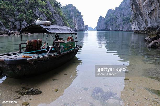 Halong Bay Basket Boat H Long Bay is a UNESCO World Heritage Site and a popular travel destination near Hanoi Vietnam The bay features thousands of...
