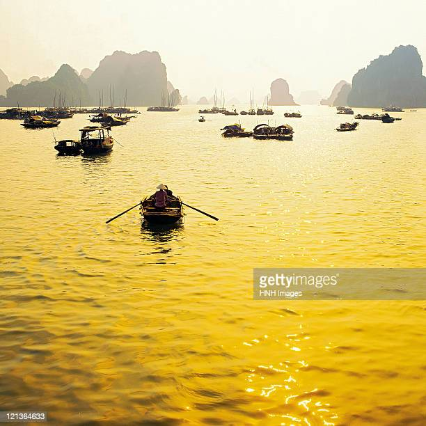 Halong bay in evening.
