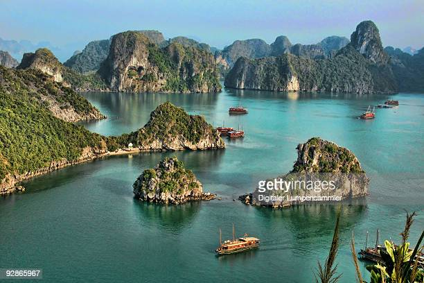 halong bay - vietnam stock pictures, royalty-free photos & images