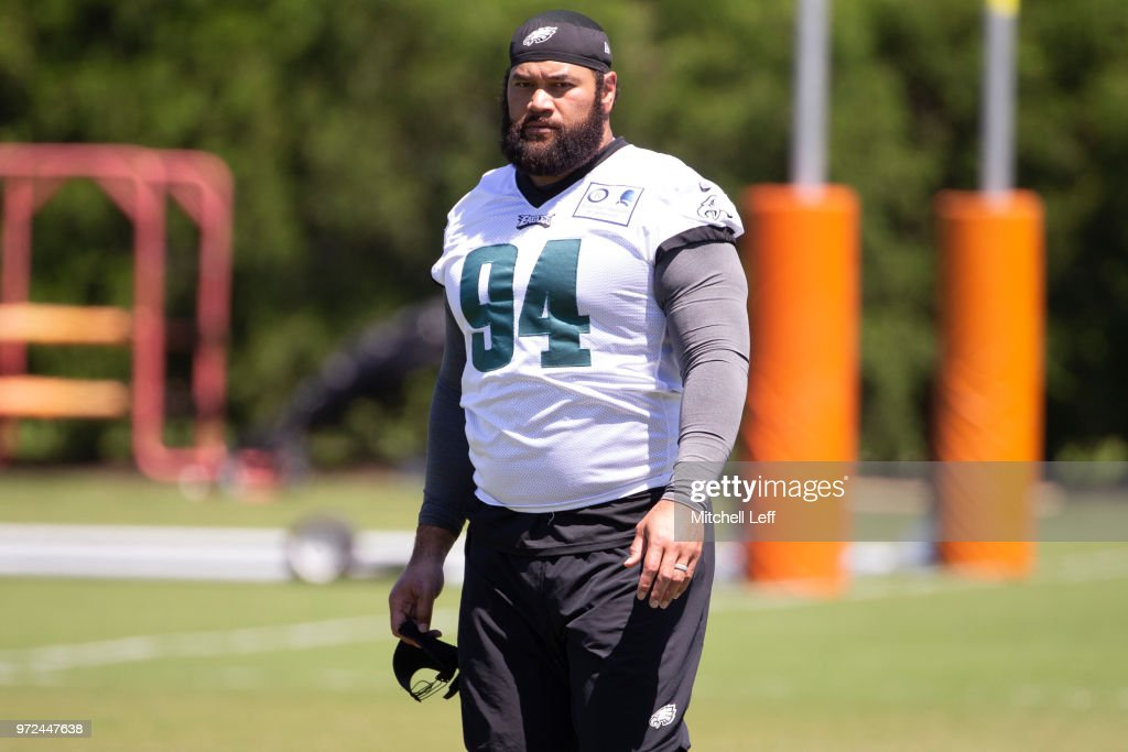 Haloti Ngata #94 of the Philadelphia Eagles walks off the field after Eagles minicamp at the NovaCare Complex on June 12, 2018 in Philadelphia, Pennsylvania.