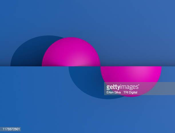 halph sphere composition in a geometric design - symmetry stock pictures, royalty-free photos & images