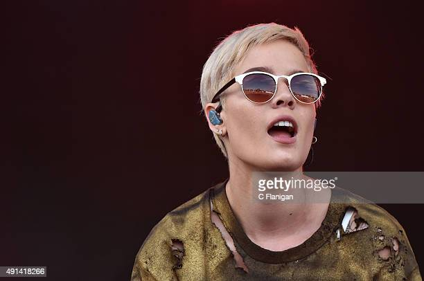 Halsey aka Ashley Frangipane performs during the 2015 Austin City Limits Music Festival at Zilker Park on October 4 2015 in Austin Texas