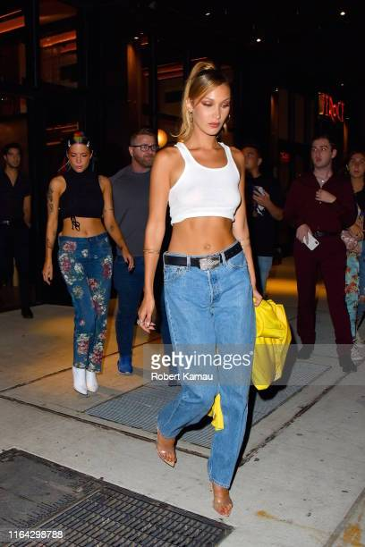 Halsey and Bella Hadid seen out and about in Manhattan on August 26, 2019 in New York City.