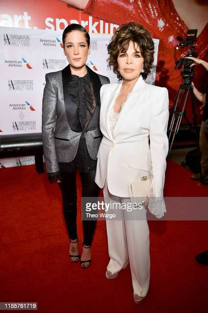Halsey and Carole Bayer Sager attend the Songwriters Hall Of Fame 50th Annual Induction And Awards Dinner at The New York Marriott Marquis on June 13...