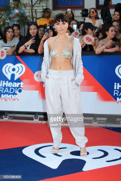 Halsey arrives at the 2018 iHeartRadio MuchMusic Video Awards at MuchMusic HQ on August 26 2018 in Toronto Canada