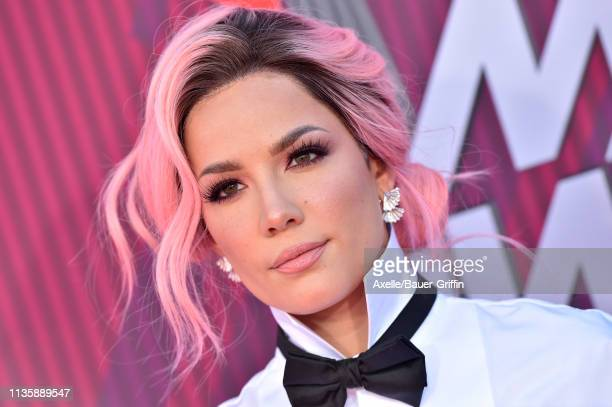 Halsey arrives at the 2019 iHeartRadio Music Awards which broadcasted live on FOX at Microsoft Theater on March 14, 2019 in Los Angeles, California.