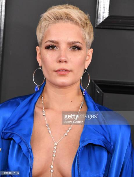Halsey arrives at the 59th GRAMMY Awards on February 12 2017 in Los Angeles California