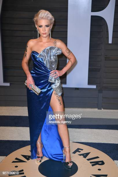 Halsey arrives at the Vanity Fair Oscar Party at Amemberg Center at Santa Monica in Beverly Hills CA USA on March 04 2018