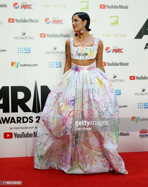 Halsey arrives for the 33rd Annual ARIA Awards 2019 at The Star on November 27 2019 in Sydney Australia
