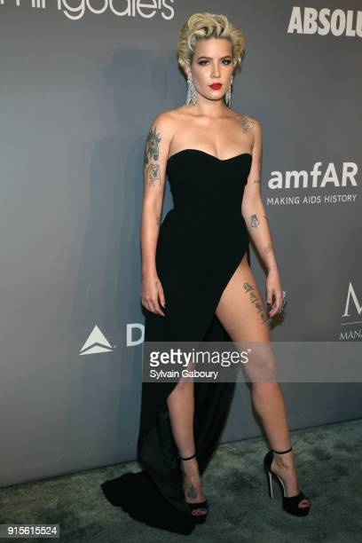 Halsey attends 2018 amfAR Gala New York Arrivals at Cipriani Wall Street on February 7 2018 in New York City